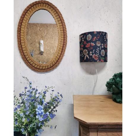 Applique murale demi-cercle imprimé fleuri